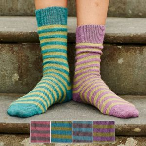 alpaca stripy socks