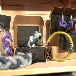 Alpaca yarn Celtic Weave Bangles